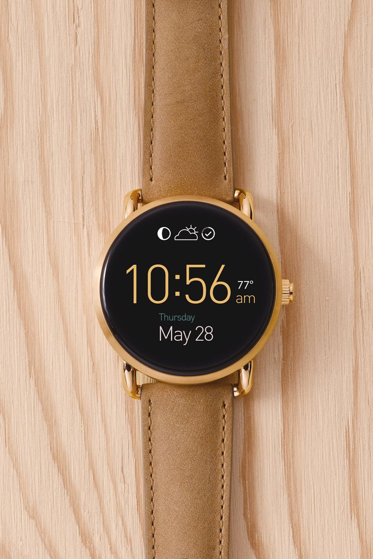 Meet the next generation of Fossil Q ​smartwatches. Q Wander is smaller and sleeker, so these Android Wear smartwatches​ pack the power you need​ into one versatile, stylish package.​​