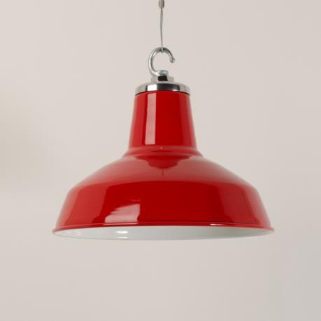 £145.00 Enamelled funk pendant - Cherry Red
