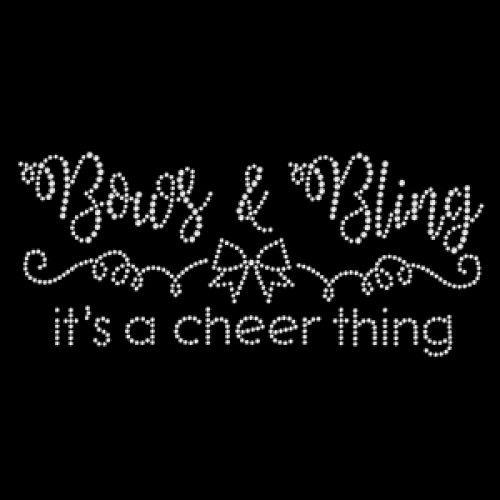 Bows Bling Cheer Thing - SD226 rhinestone transfer from www.heattransferwarehouse.com