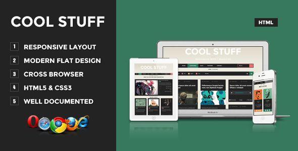 Cool Stuff - Responsive Blog/Magazine Site Template