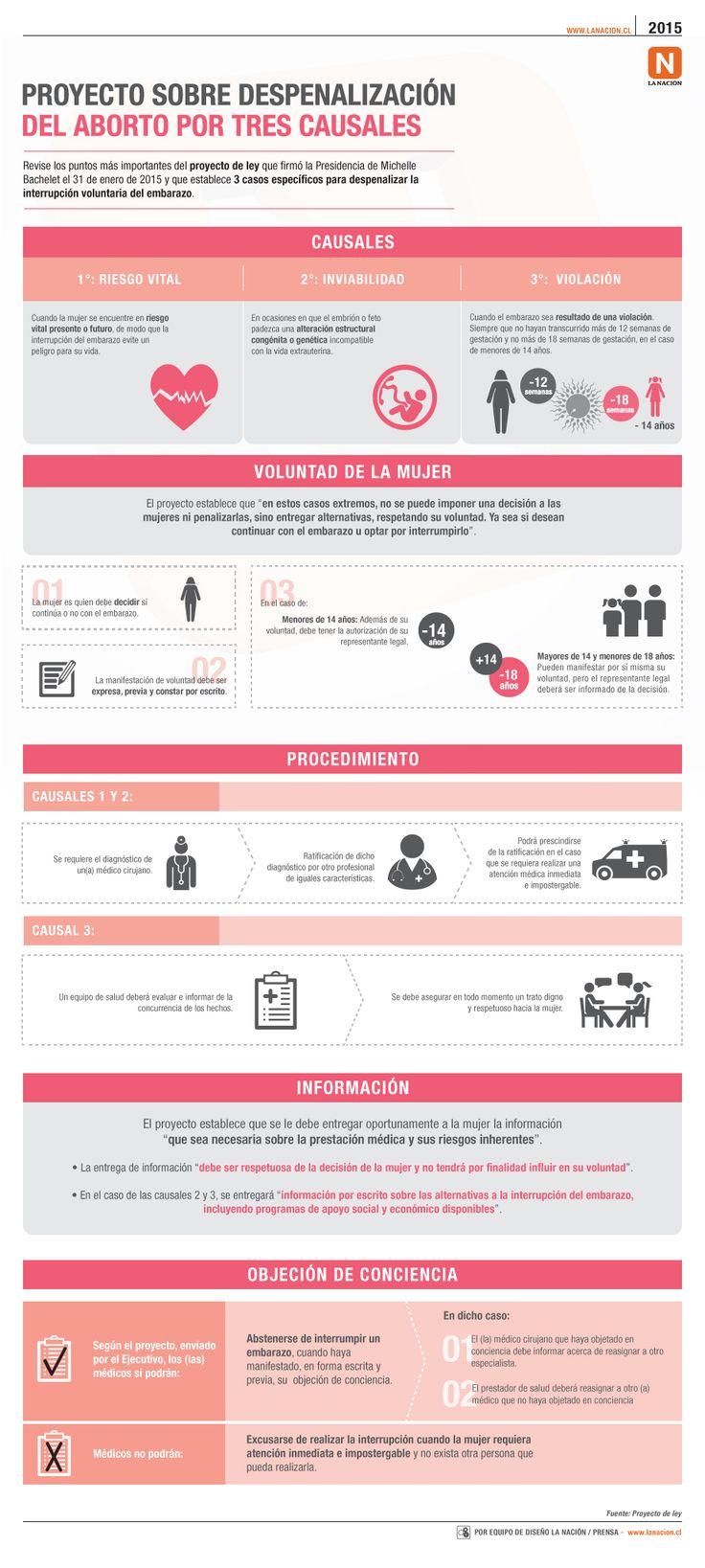 Los puntos más importantes del proyecto sobre despenalización del aborto por 3 causales