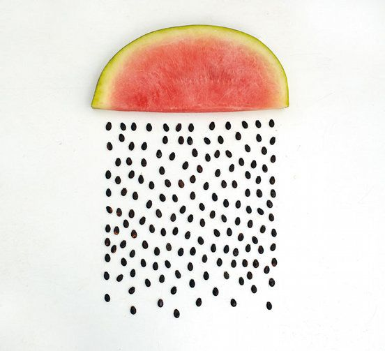 rain rain rainInspiration, Watermelon Art, Summer Rain, Seeds, Watermelon Rain, Sarah Illenberger, Foodart, Food Art, Design