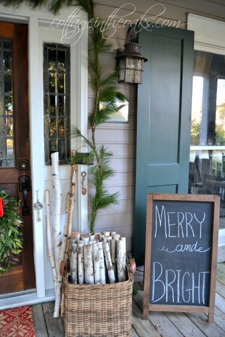 Christmas front porch decor ideas …..