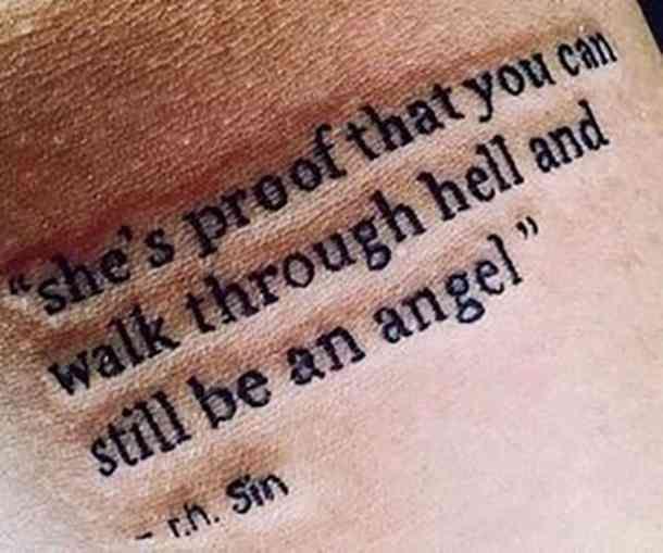 Dies ist der Beweis, dass Sie durch die Hölle gehen und trotzdem ein Engel sein können. – r.n. Sin #ta