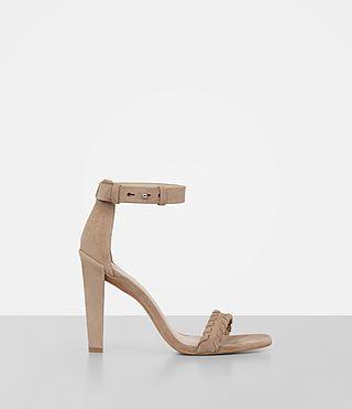 ALLSAINTS Effie Suede Sandal. #allsaints #shoes #