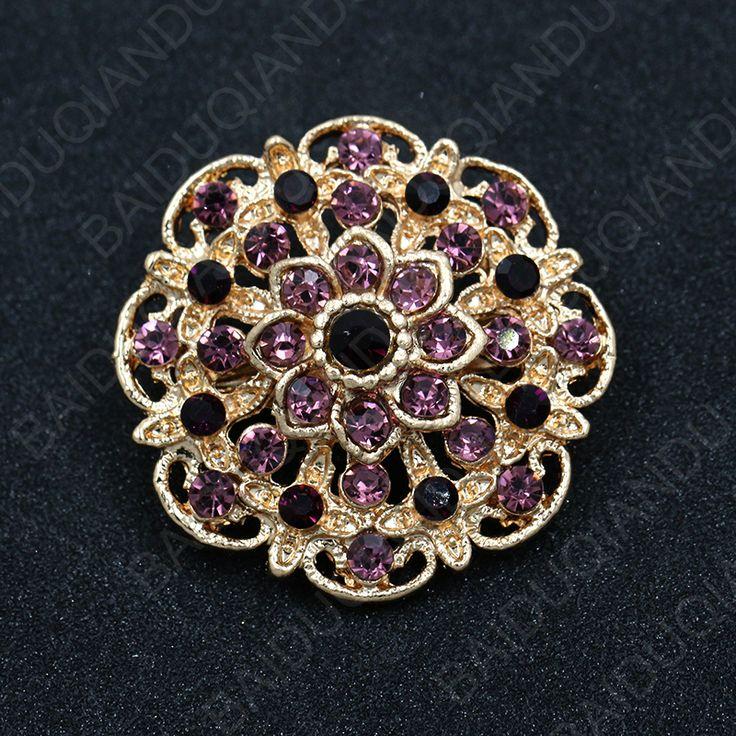 SODIAL(R) New Opal Rhinestone Brooches For Women Vintage Fashion Female Jewelry Gilded Opal Flower Brooch Brooches Pins HSaB6l