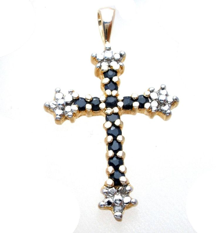 Ross Simons Black Onyx Cross Pendant Sterling Silver