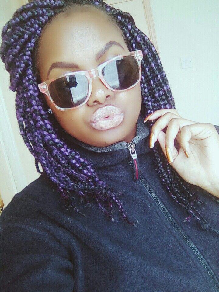Purple braids
