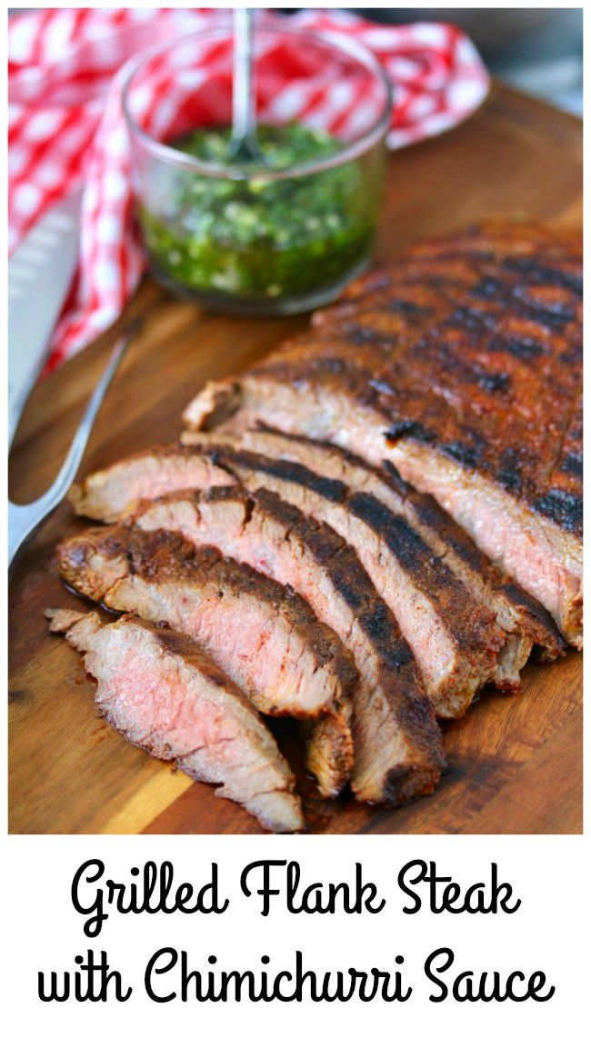 Grilled Flank Steak With Chimichurri Sauce Recipe Summer