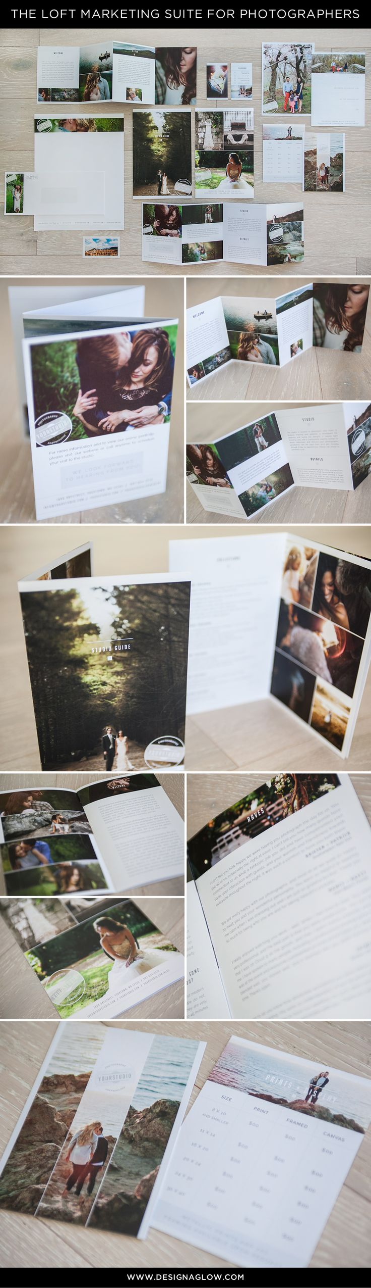 The Loft Marketing Suite for Photographers: Impressing your clients has never been easier! #designaglow