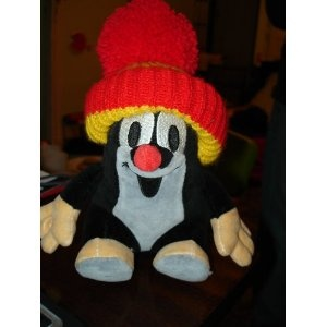 Krtek the Mole Sitting in Red Hat / Maulwurf / Plush Stuffed Toy / Very Cute and Lovely / Kisvakond $59.99
