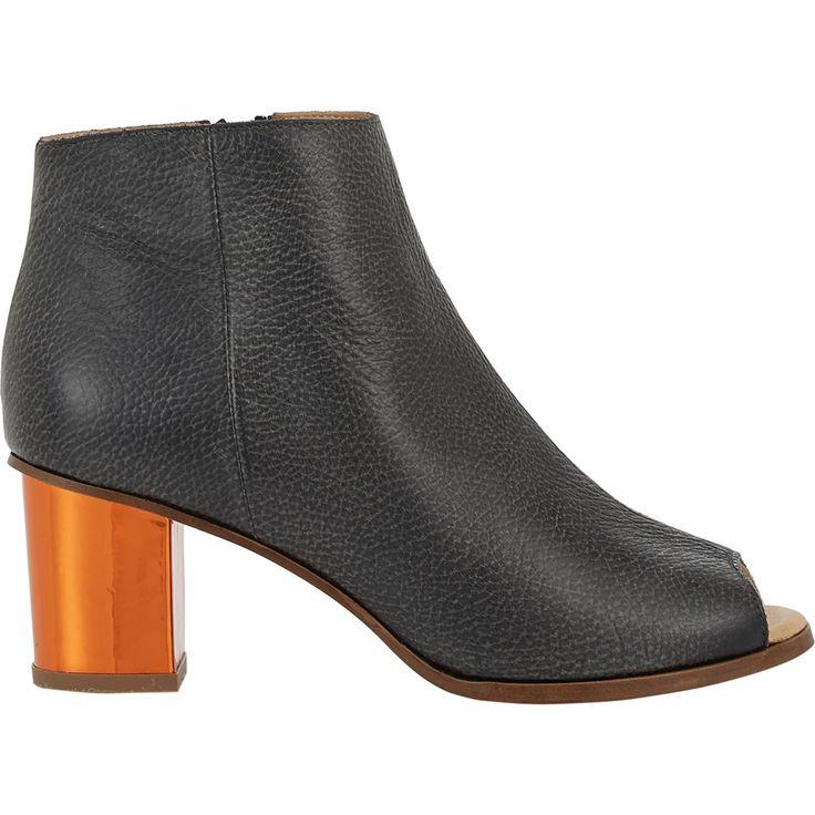 MM6 Maison Martin Margiela Mirrored-Heel Peep-Toe Boots