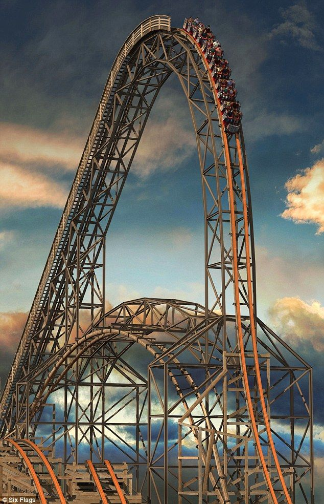 Thrill seekers: Wooden roller coaster Goliath breaks three world records with its speed an...