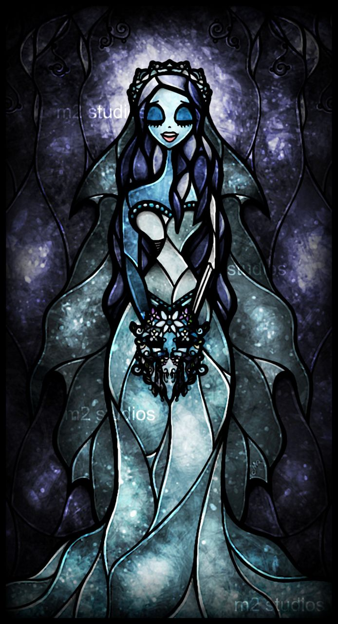 Tim burton stained glass art (i know it's not Disney, but i love this movie.)