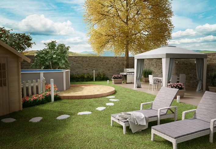 Un giardino da vivere con la famiglia. Scopri come trasformare il tuo giardino in un luogo da vivere in estate con gli spazi necessari per pranzare, riposare e divertirti: http://www.leroymerlin.it/idee-progetti/progetti-esterno/giardino-famiglia