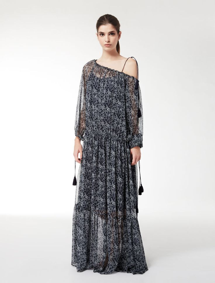 MaxMara WeekEnd ODEON midnightblue: Silk georgette dress Product page