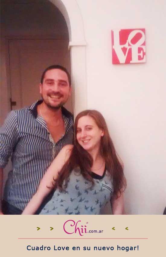 César e Ivanna festejaron #SanValentín con un cuadro pintado a mano de #Chii  www.chii.com.ar