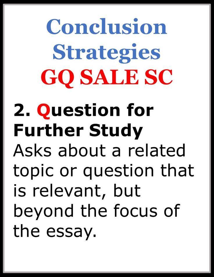 Teaching essay writing strategies