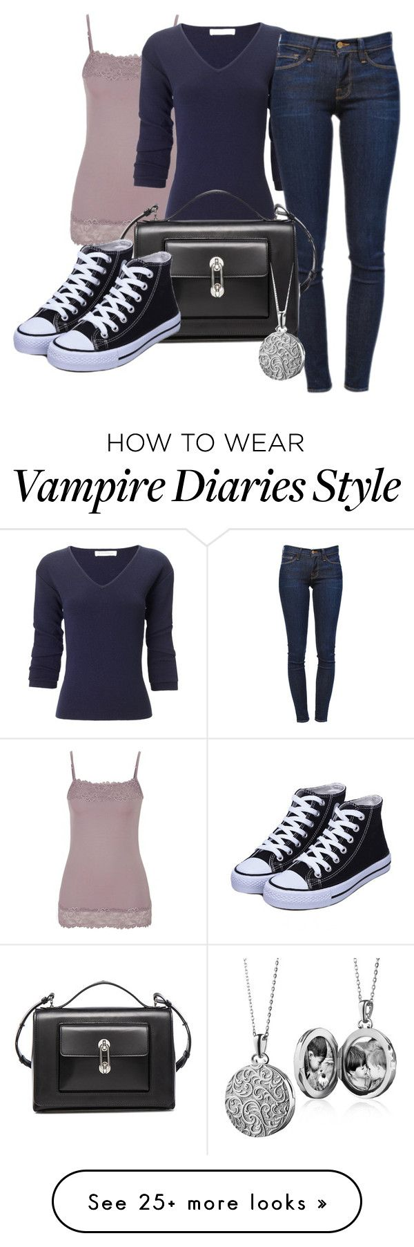 """""""Elena Gilbert (The Vampire Diaries)"""" by risacf on Polyvore featuring moda, maurices, J.W. Anderson, Frame Denim, Balenciaga y Blue Nile"""