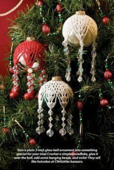 W590 крючком/узор из бисера только Снежинка Рождественские украшения Крышка ...