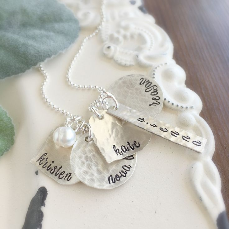 Mothers charm necklace