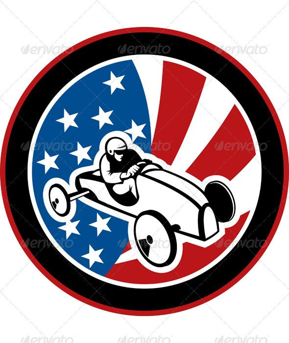Soap Box Derby Race Car American Flag  #GraphicRiver         Vector illustration of a soapbox derby race car with American stars and stripes flag in background.     Created: 4January12 GraphicsFilesIncluded: JPGImage #VectorEPS Layered: Yes MinimumAdobeCSVersion: CS Tags: american #car #derby #flag #illustration #race #racecar #racing #soapbox #soapbox #sport #starsandstripes #vector