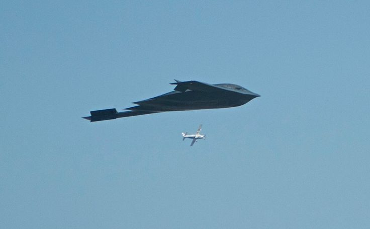 B-2 over the Rose Bowl
