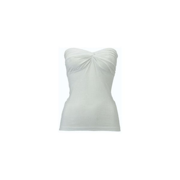 Dorothy Perkins - Essential tops - Boobtubes - WHITE TWIST FRONT BOOB... ❤ liked on Polyvore featuring tops, shirts, white, white tube top, white top, dorothy perkins, white shirts and tube shirt
