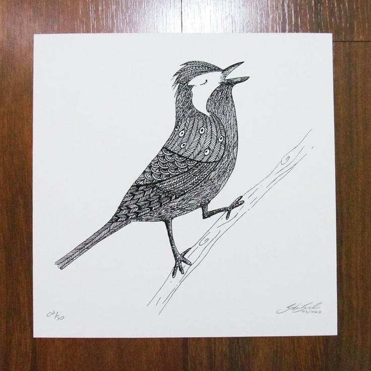 #Ilustração #Gravura Pássaros de Gabriela Gil por R$25