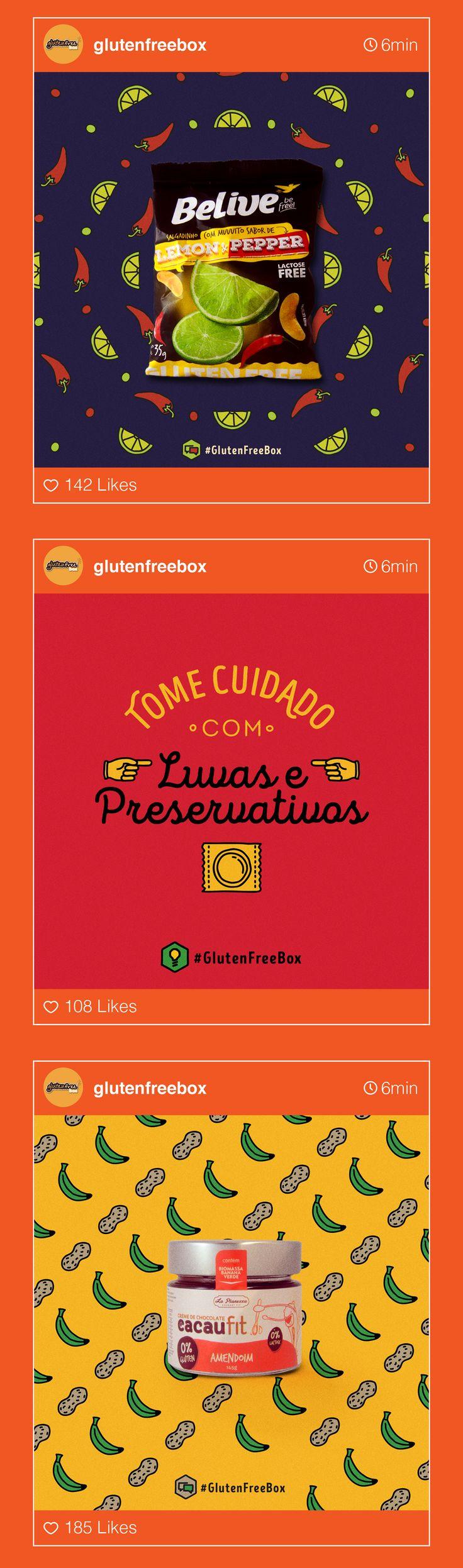 Posts de Instagram e Facebook criados para a GlutenFreeBox, empresa de assinatura de alimentos sem glúten, no período de novembro (2015) a fevereiro (2016).Designer: Jonas QueirogaFotográfia & Ilustração:Jonas QueirogaRedação & Planejamento:Mirela D…