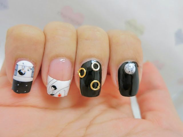 The 25 best dog nail art ideas on pinterest dog nails cute black and white elephant and dog nail art nail wrap mds1033 prinsesfo Gallery
