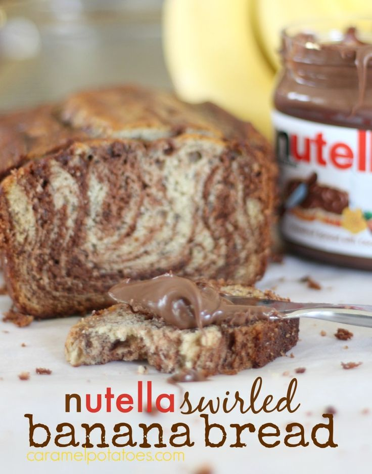 Nutella Swirled Banana Bread adds a sweet touch to a classic recipe.
