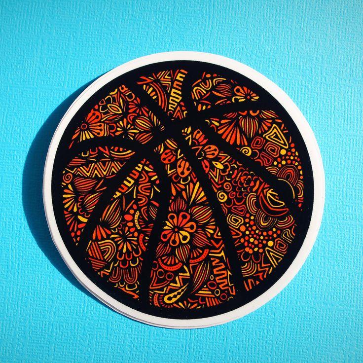 Basketball-wasserdichter Aufkleber! #Hydroflask #Ästhetik #Laptop   – Waterproof Stickers