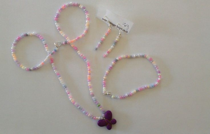 Butterfly set - ideal for a young lady.  Necklace, bracelet and earrings.