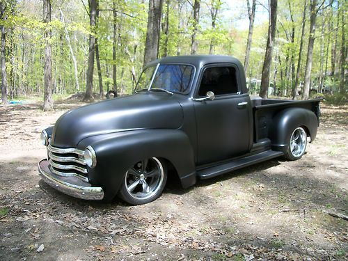 1950 black chevy truck | 1950 Chevrolet Pickup Shop Truck Hot Rat Rod Chevy 3100 on 2040cars