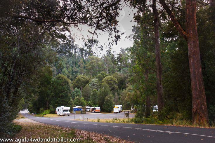 Free camp at Hellyer Gorge, North Western Tasmania. Beware, no internet or phone coverage in the gorge so bring cards! www.agirla4wdandatrailer.com