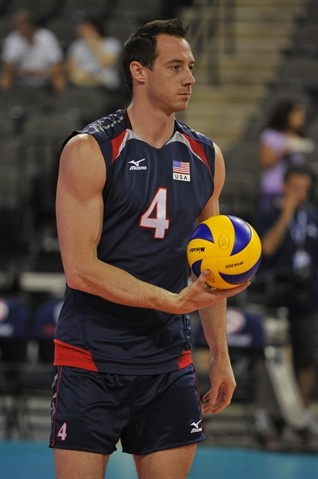 David Lee - Men's Volleyball. I know everyone likes Matt Anderson, but #4 is my favorite!