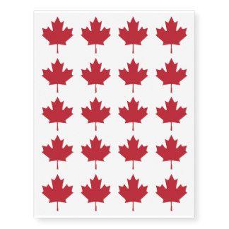 Tatuagens provisórios da folha de bordo de Canadá