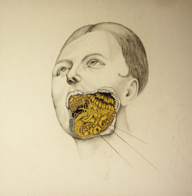 Woman mouth  2014 60 X 65cm  pencil, pen and acrylic over fabric