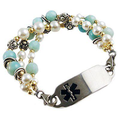 Medical Alert Bracelets and stylish jewelry custom engraved for men, women, children - Crystal Messages Medical ID Bracelets