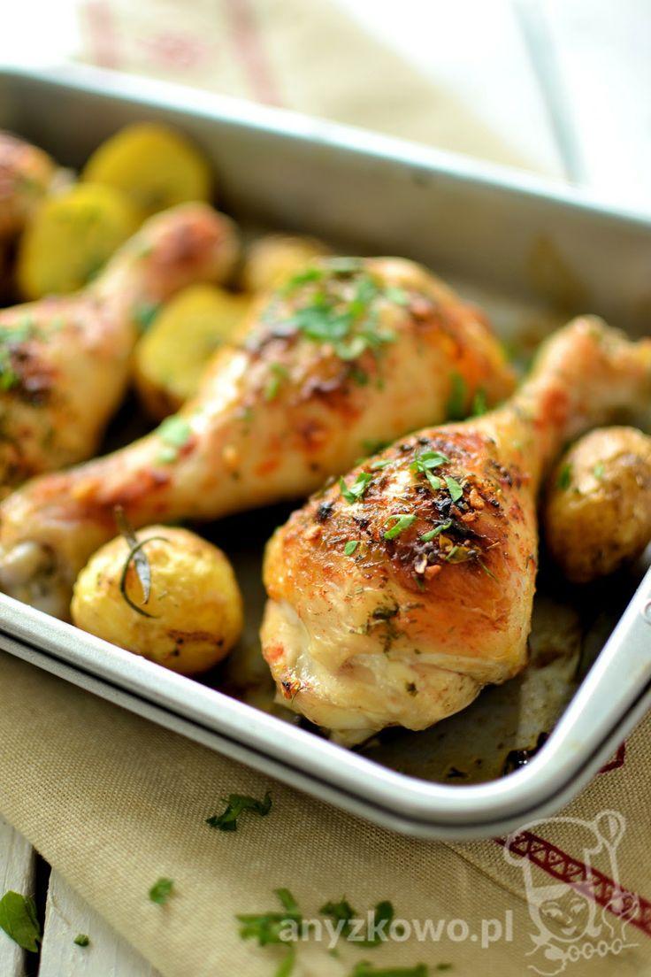 Anyżkowo: Złote pałki z kurczaka z młodymi ziemniaczkami