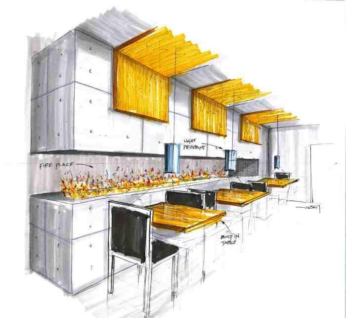 Interior Design Sketches Kitchen