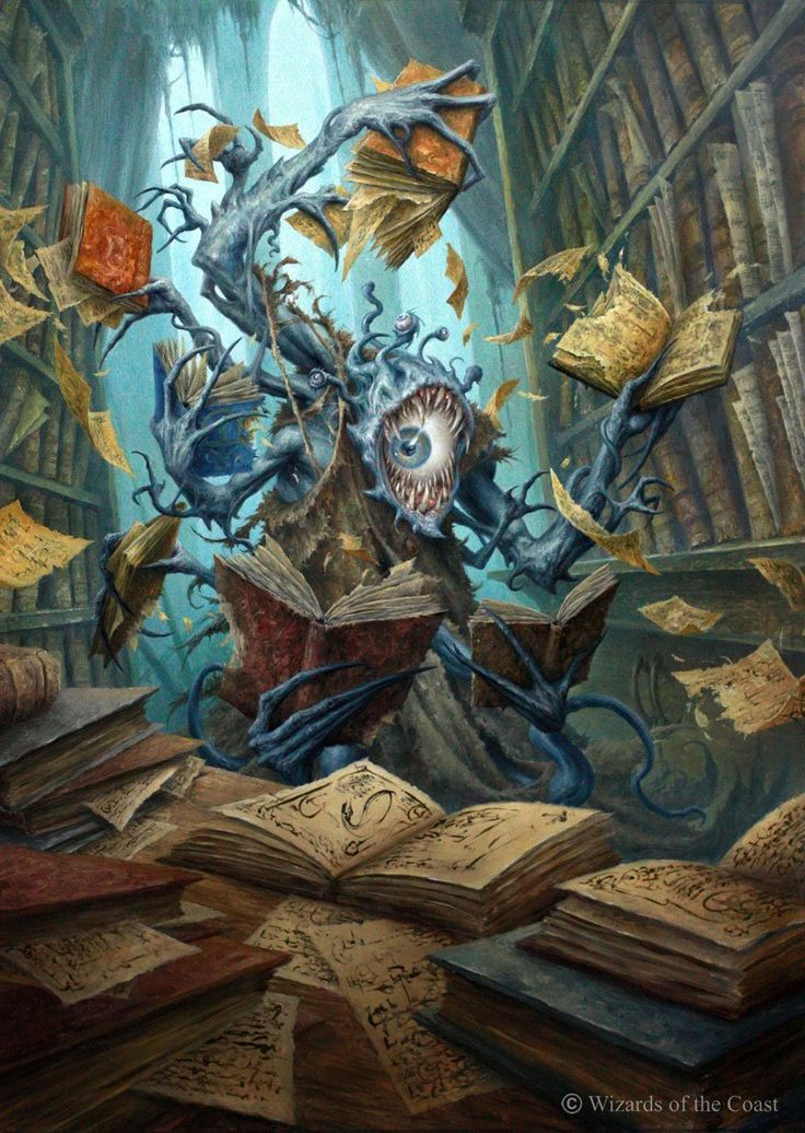 Voracious Reader MtG Art by Filip Burburan
