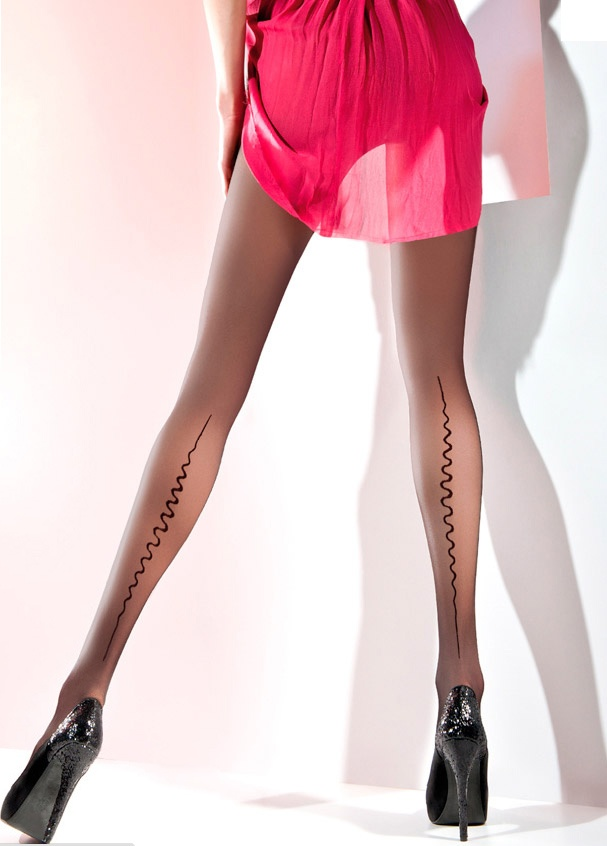 Zafira Patterned Tights High Quality Sheer Tights With A