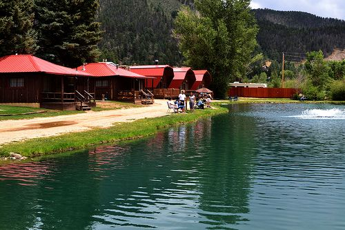 Cabins by the lake in Red River NM