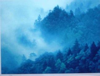 東山魁夷『山霊湧雲』