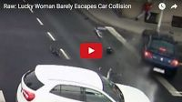SCG VIRALS: Raw: Lucky Woman Barely Escapes Car Collision  Meanwhile in Poland...  Wow, talk about lucky and being in the right place at the wrong time. This woman's life was saved by a simple light pole, albeit, one helluva strong one...