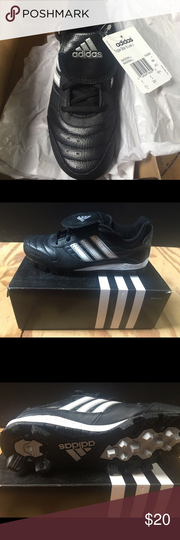New Boys Adidas Baseball Cleats New boys Adidas baseball cleats in size 4.5. Great deal! Cross-Posted adidas Shoes