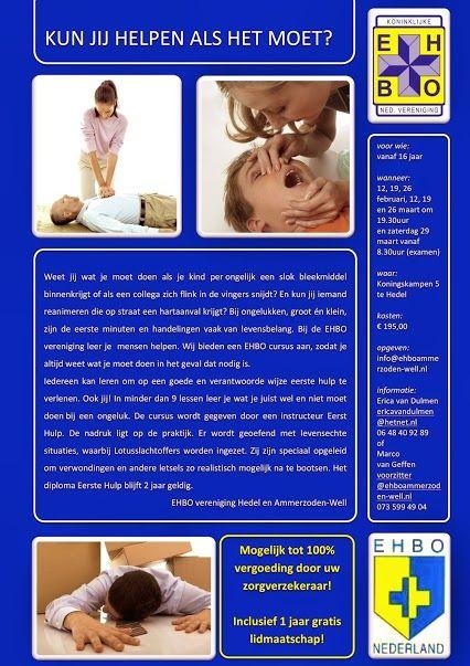 EHBO opleiding door EHBO vereniging Hedel en Ammerzoden-Well