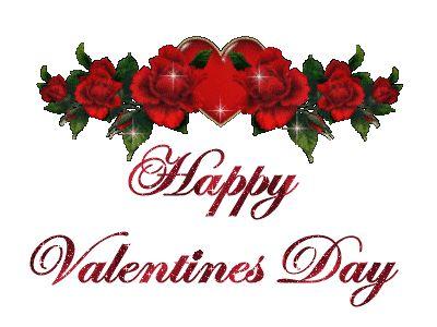 happy valentines day glitter gif